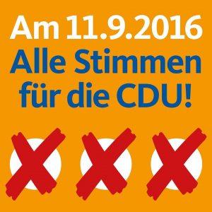 Alle Stimmen für die CDU
